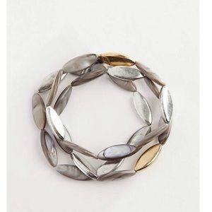 J.jill sculpted shell bracelet
